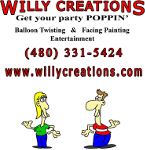 Willy Creations Balloon Twisting & Face Painting