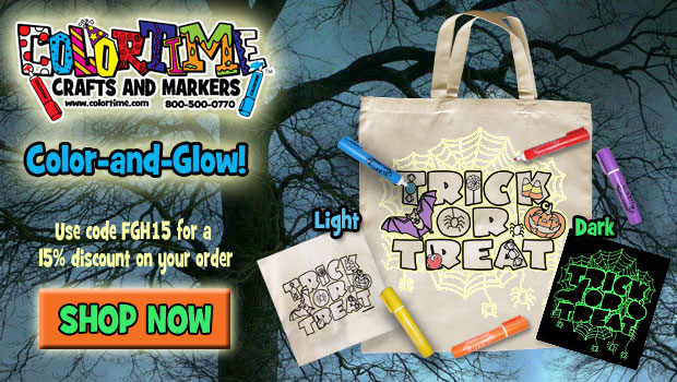 Colortime Crafts and Markers - Glow in the Dark Halloween Tote!